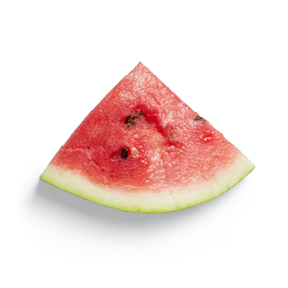 sliced watermelon on white background