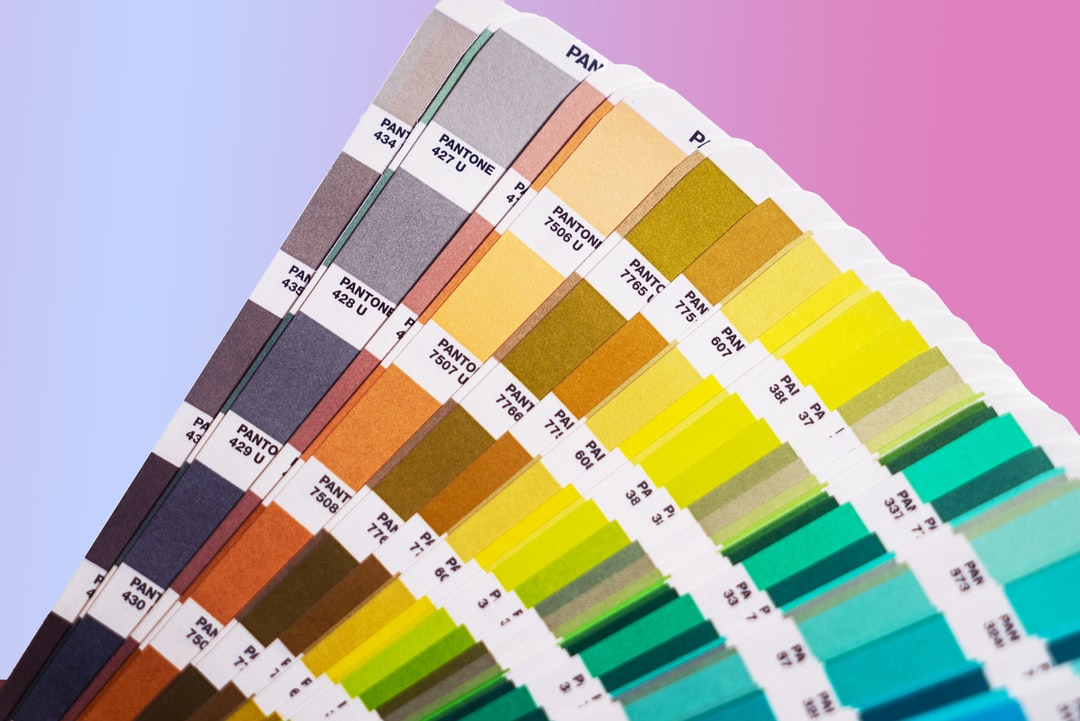 Pantone Test Charts. You Use Them To Check the Colors of Printed Papers / Paintwork Et Cetera. - unsplash