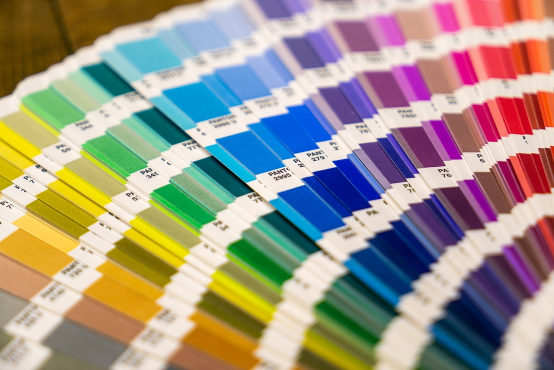 Pantone test charts. You use them to check the colors of printed papers / paintwork et cetera.