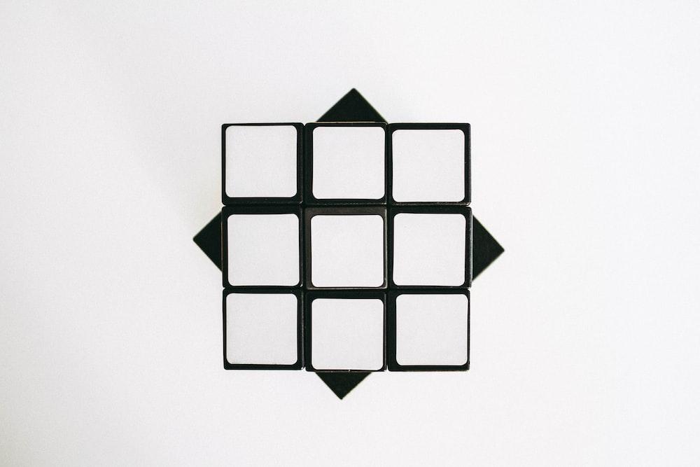 black and white triangle illustration