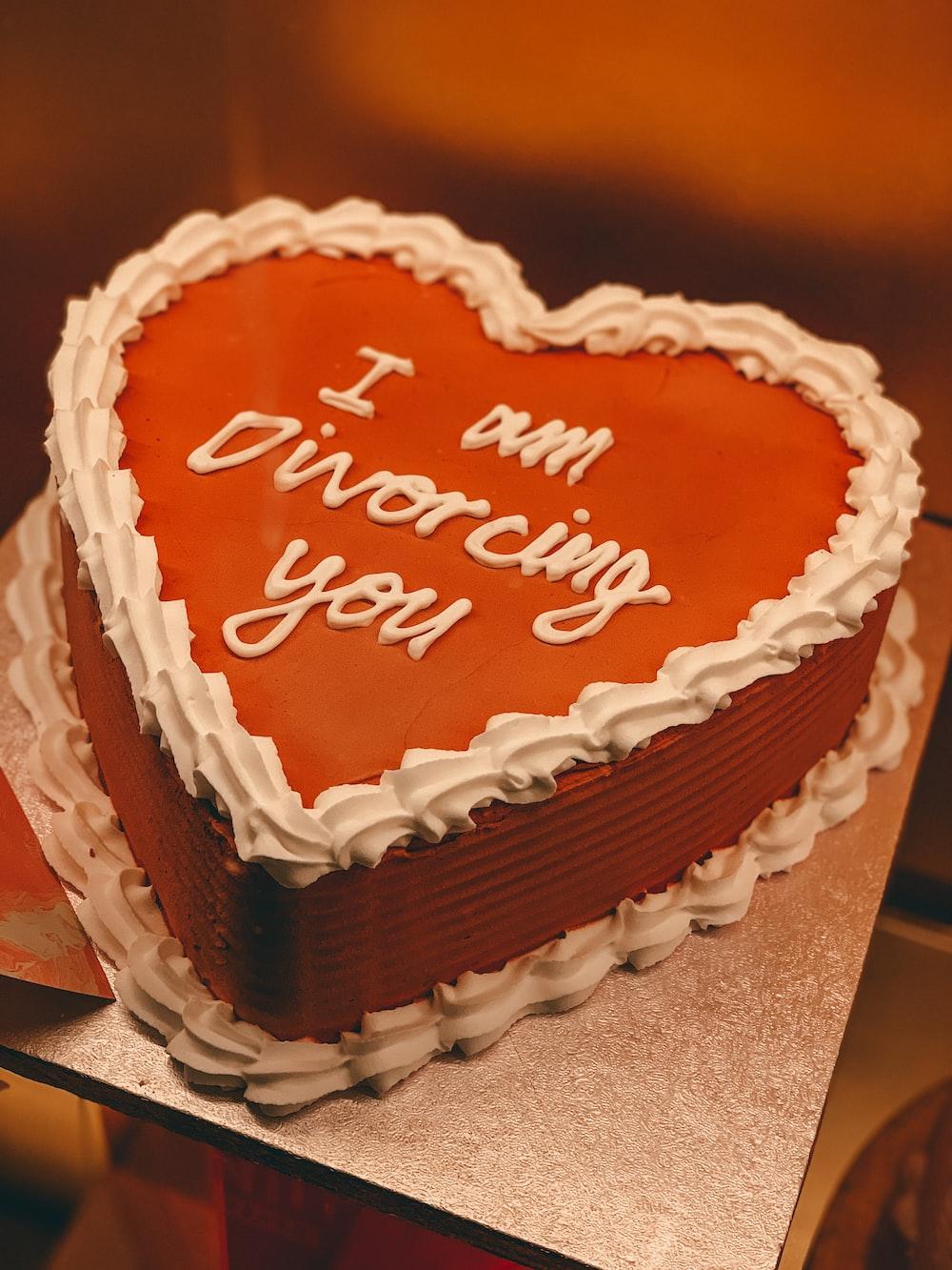 happy birthday cake on brown box