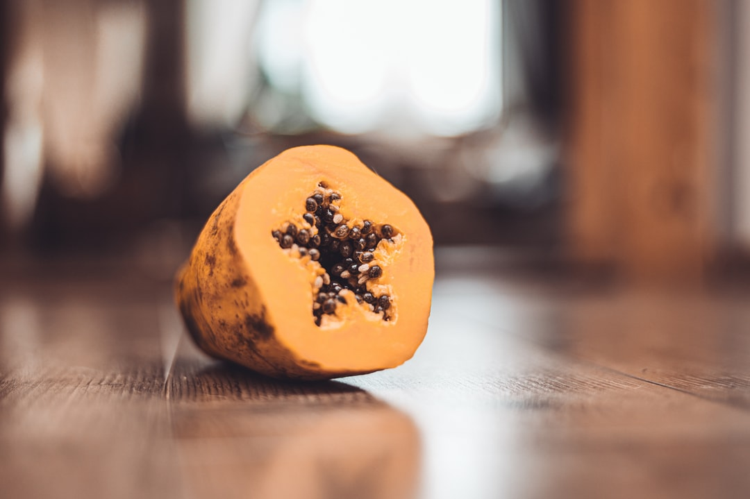 Star made from papaya