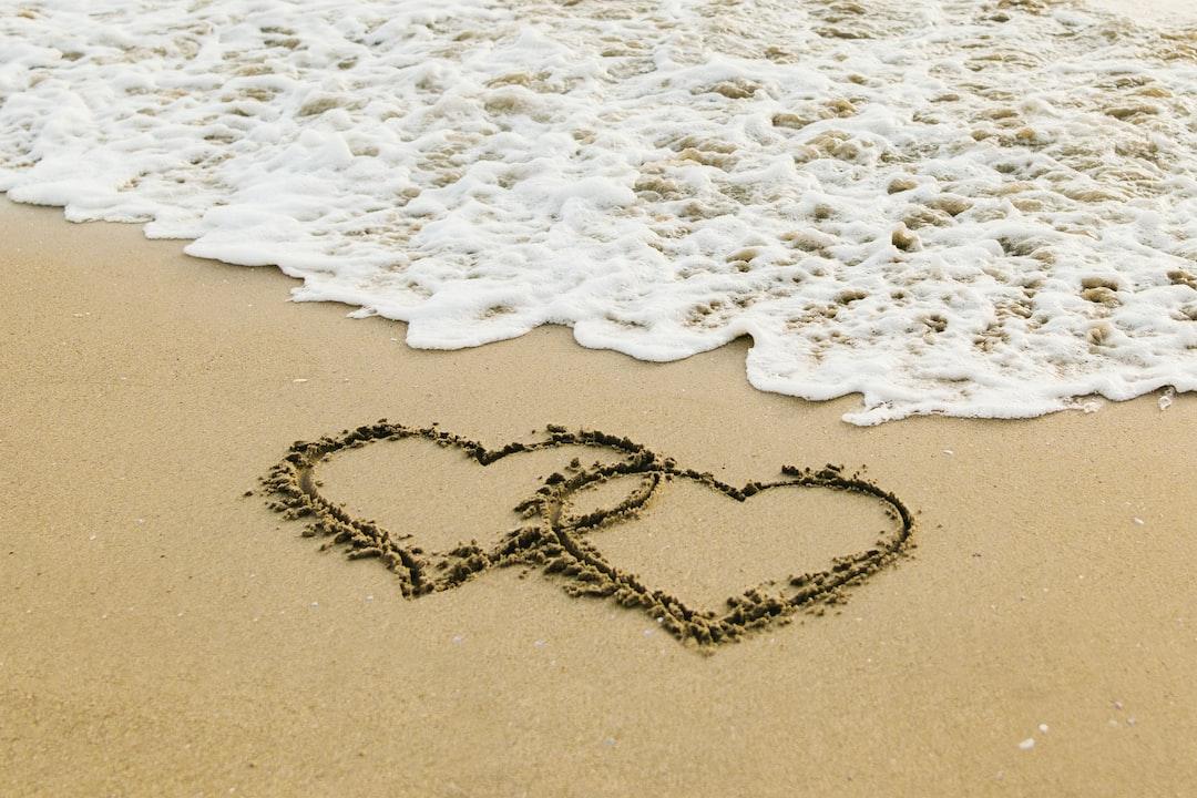 Hearts On the Shore - unsplash