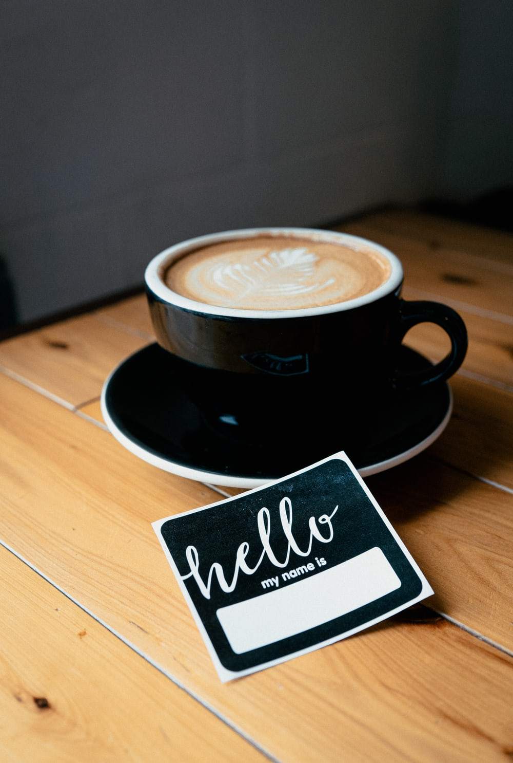 Coffee and hello