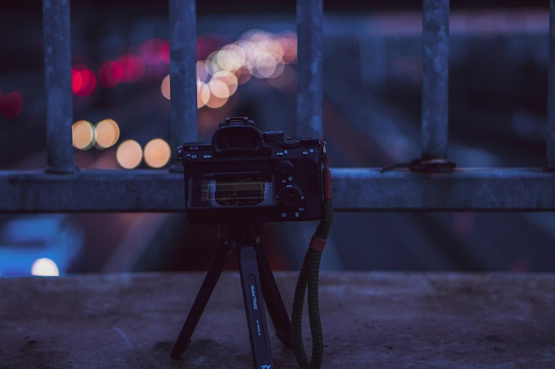 Sony camera shooting motorway