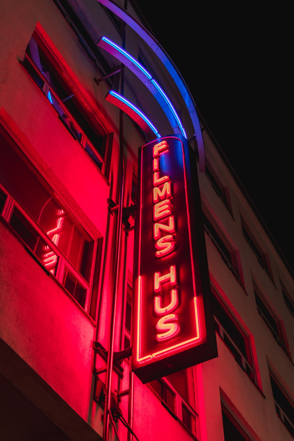 red and white UNK neon light signage