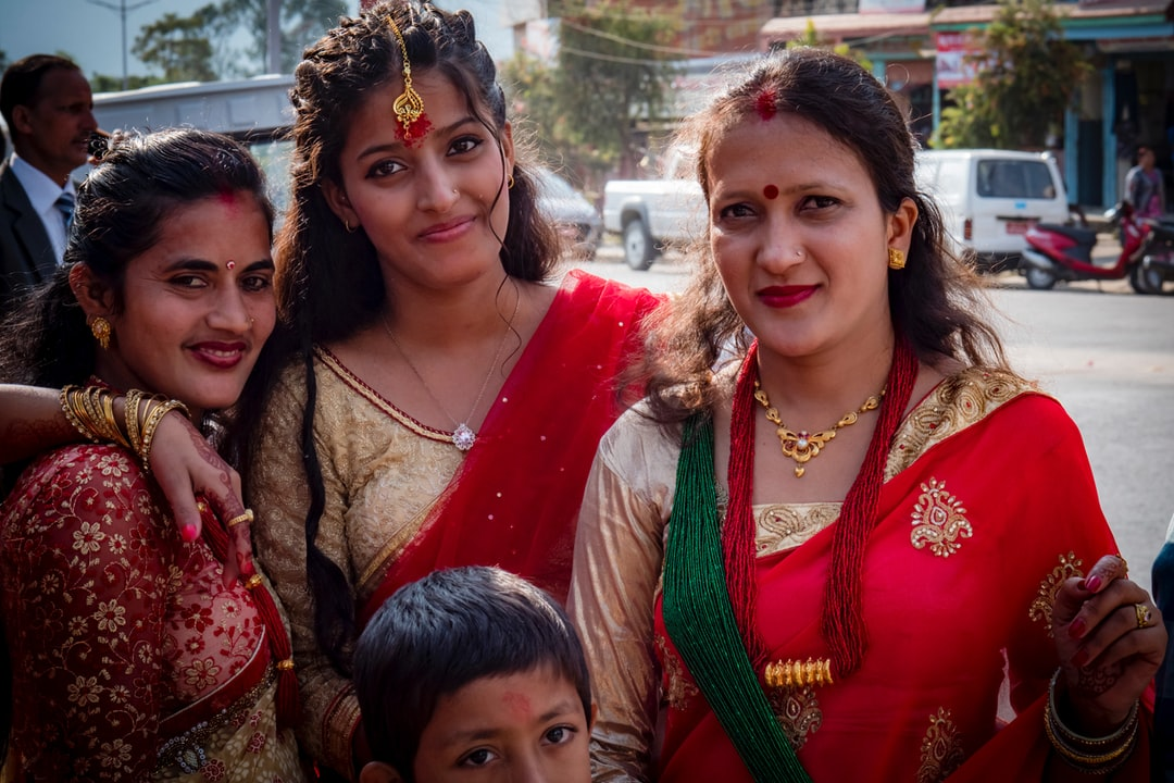 Lady in weeding party