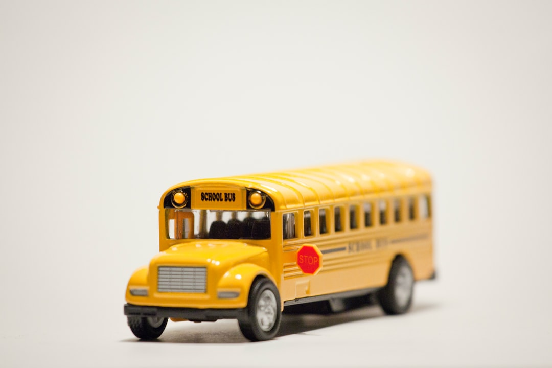 An American yellow school bus toy.