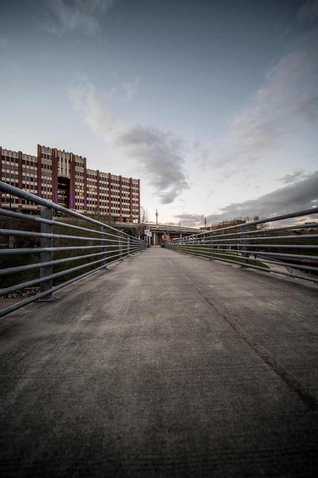 View of University of Houston-Downtown in Houston, TX 77002 from a bridge crossing Buffalo Bayou, near Allen's Landing.