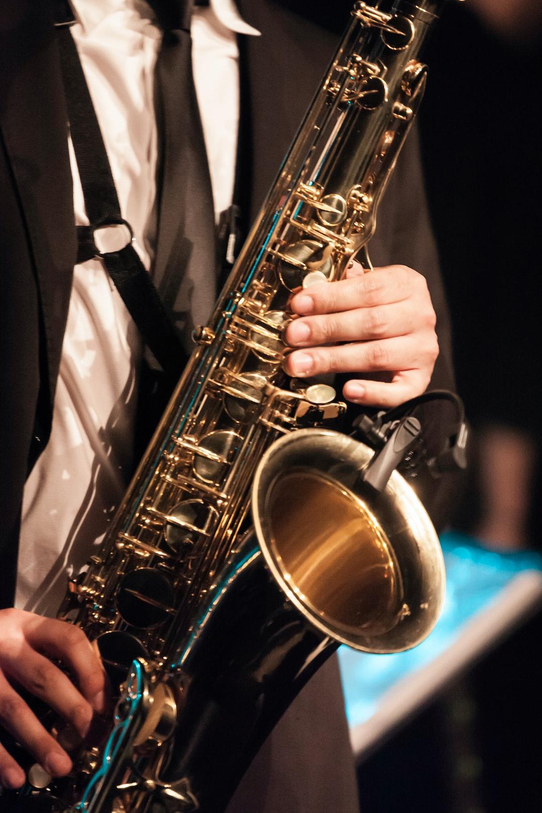 Saxophone player close-up