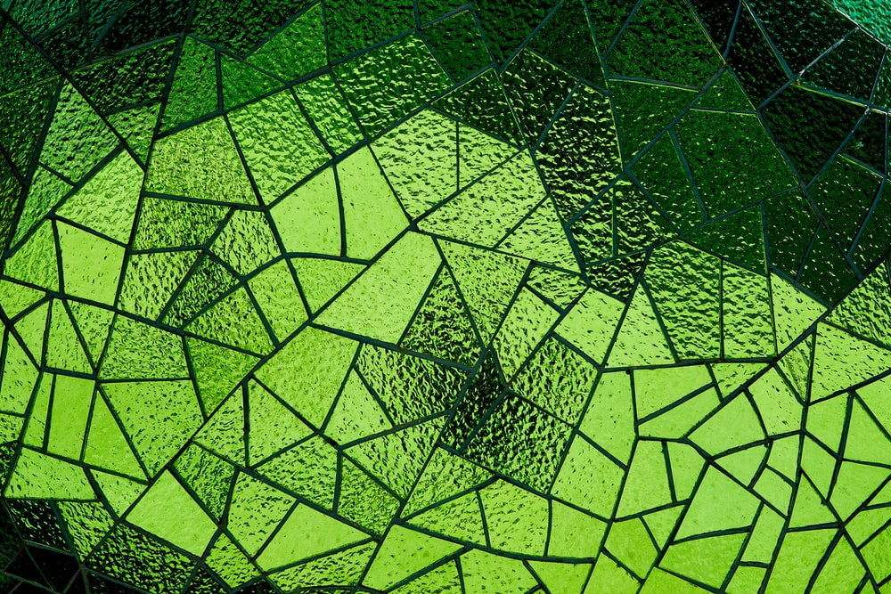 green and black square pattern