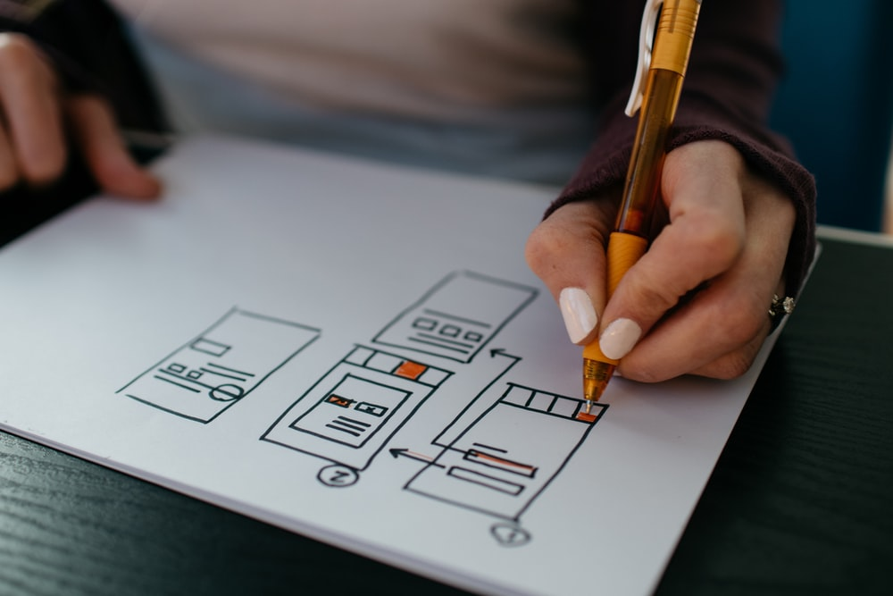 App designer drawing out a database schema