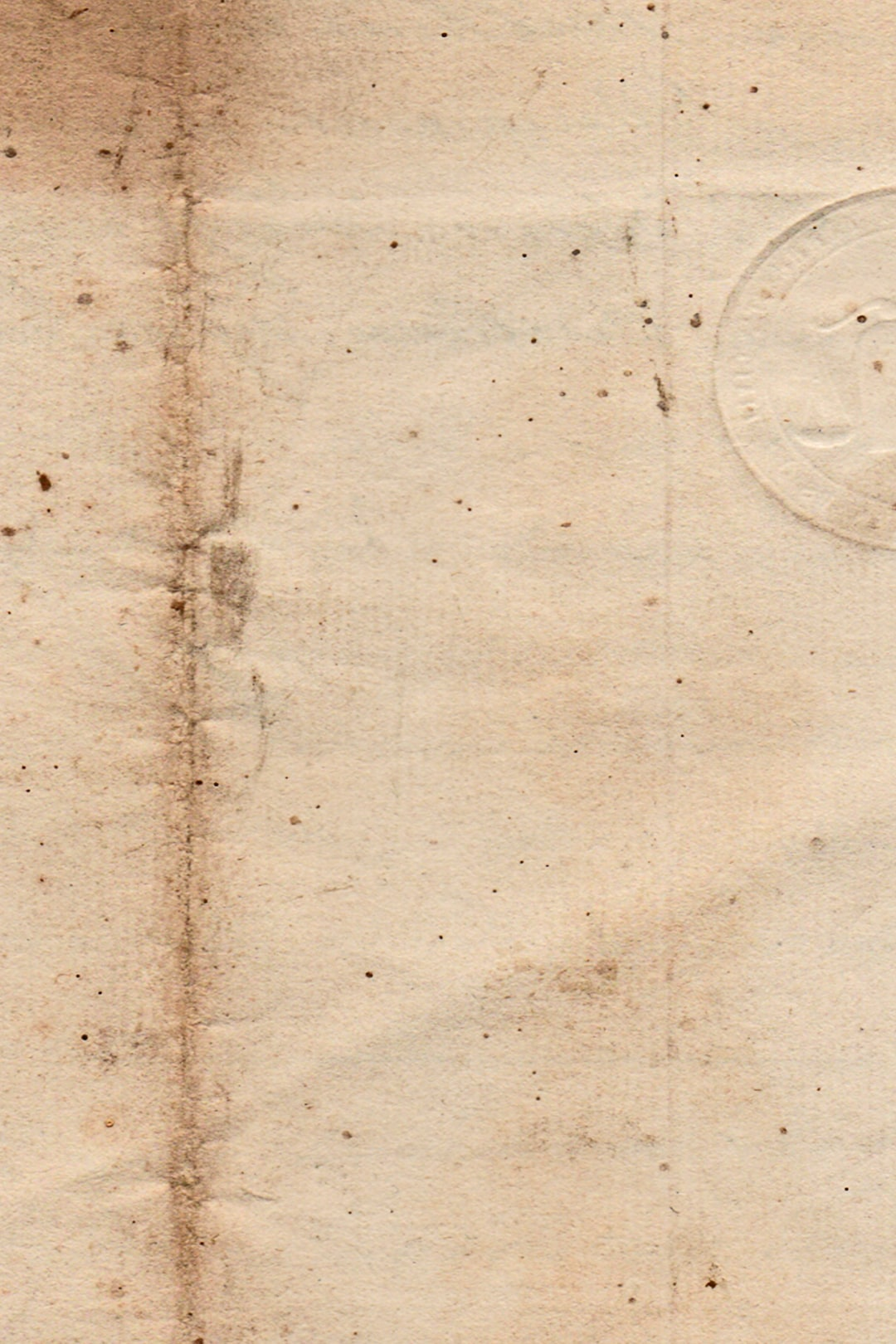 Vintage Stamped Paper - 4 September 1838
