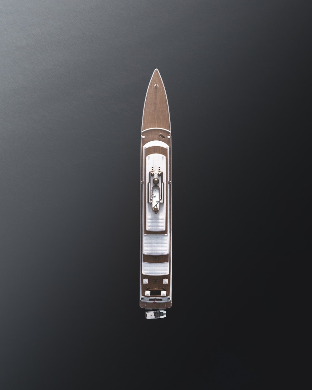 brown and white space ship