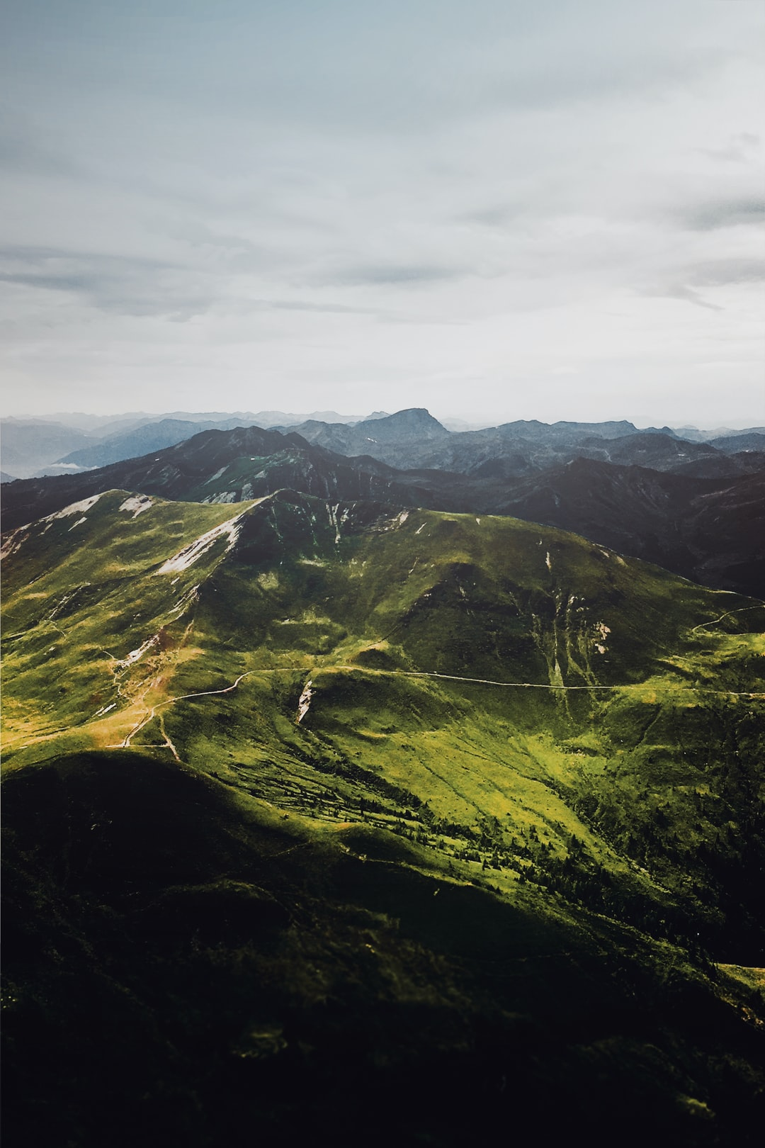 helicopter view above the alps - #shotoniphone
