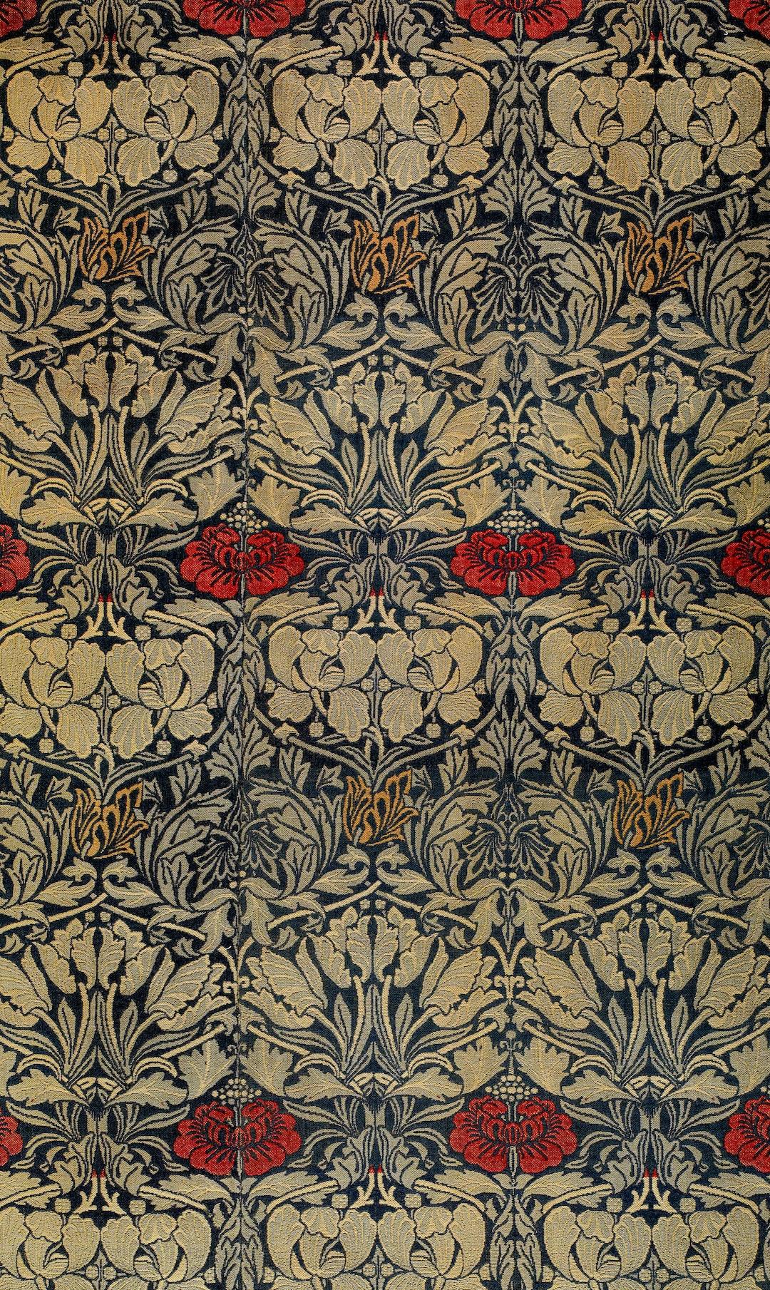 Woven Curtain Fabric - Tulip and Rose, 1876. Designer: William Morris. Manufacturer: Morris & Co.