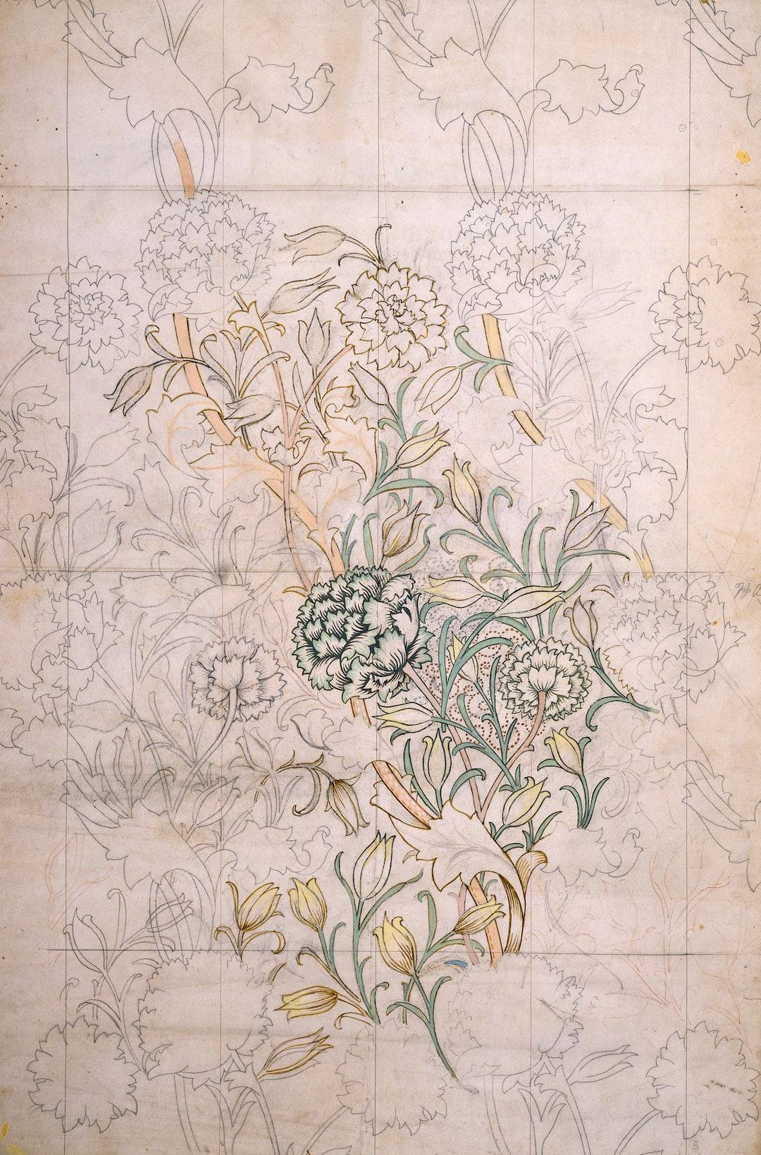 Wild Tulip, 1884 by William Morris. Design for wallpaper