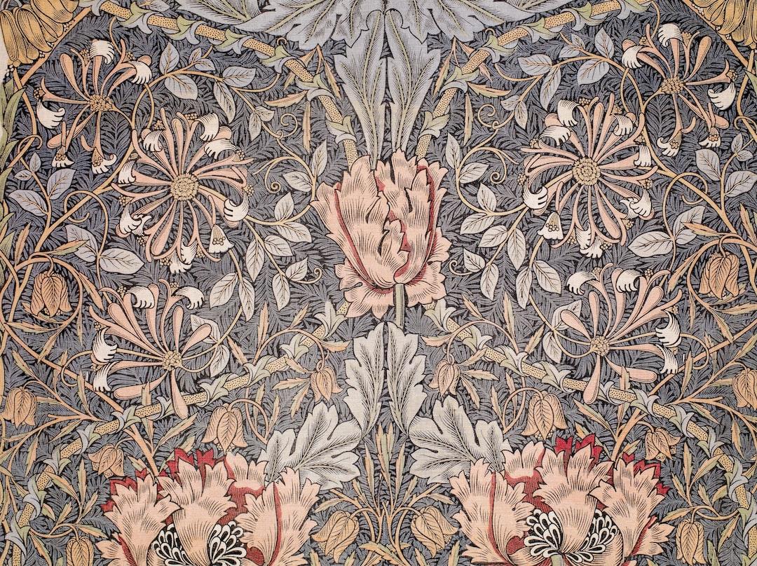 Printed Linen - Honeysuckle, 1876. Designer: William Morris. Manufacturer: Morris & Co.