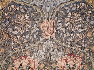 white blue and red floral textile watercolour teams background
