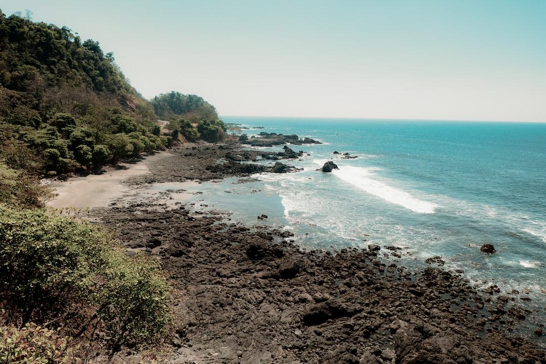 Rocky coastline near Jacó on the Pacific Coast of Costa Rica