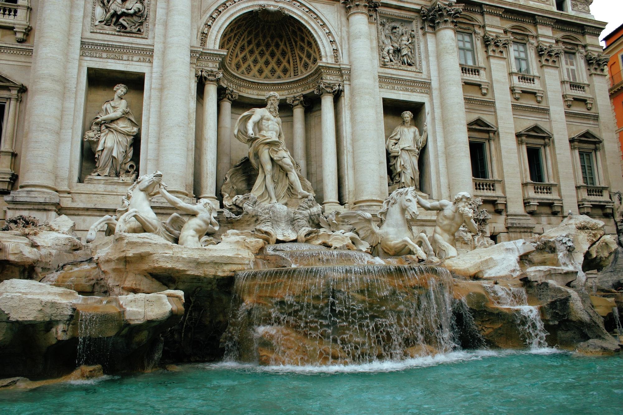Trevi Fountain Italy, travel with home exchange