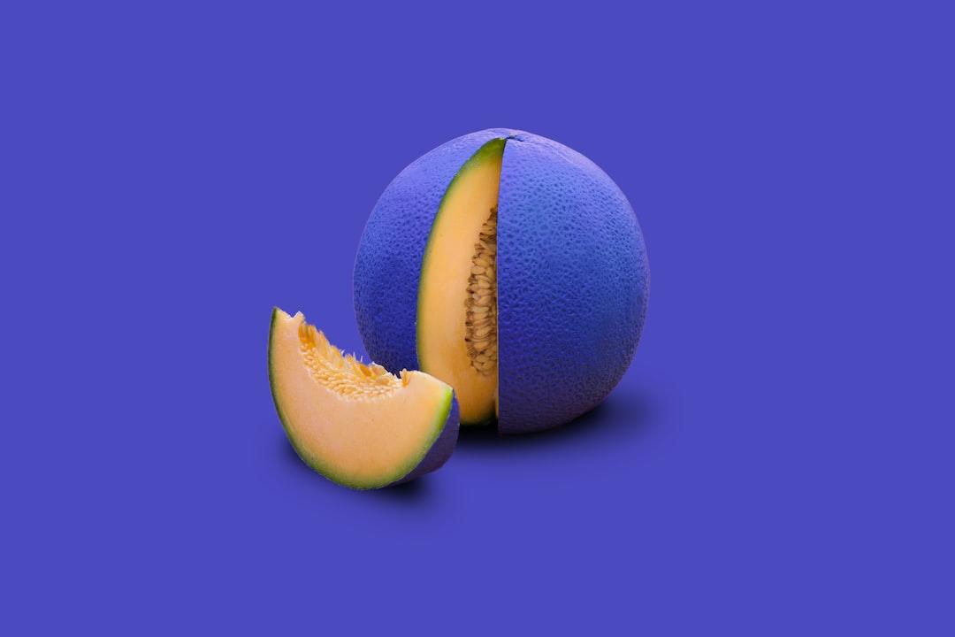 Painted cantaloupe melon