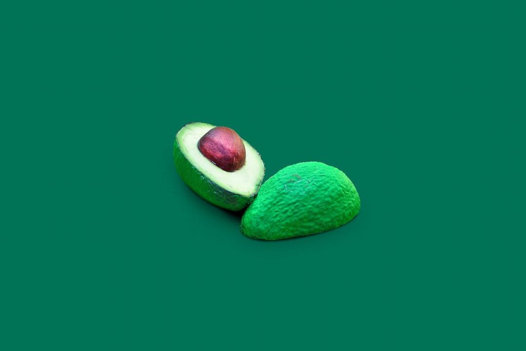 Painted, Sliced Avocado - unsplash