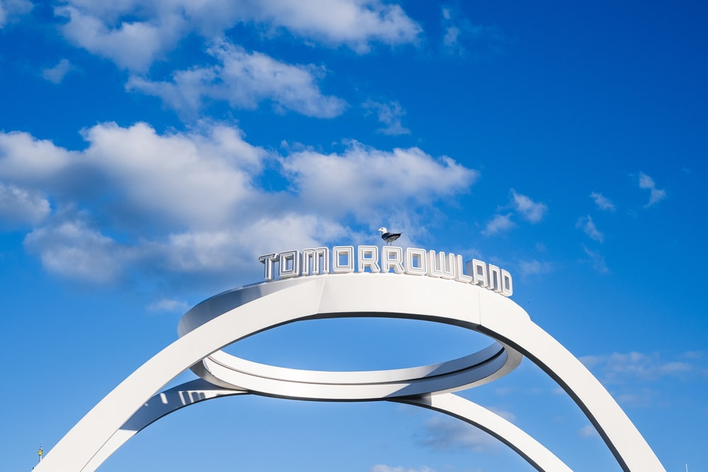white and blue round frame under blue sky during daytime