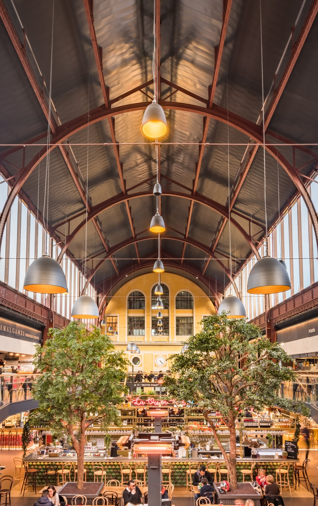 The majestic Gare du Sud station in Nice, which is now a beautiful gourmet hall!