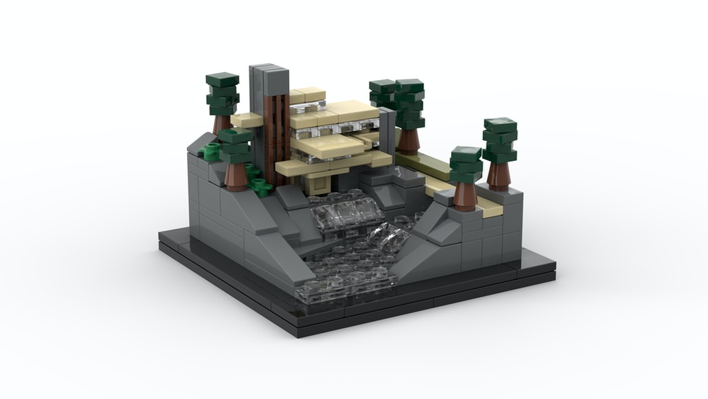 green and brown lego blocks