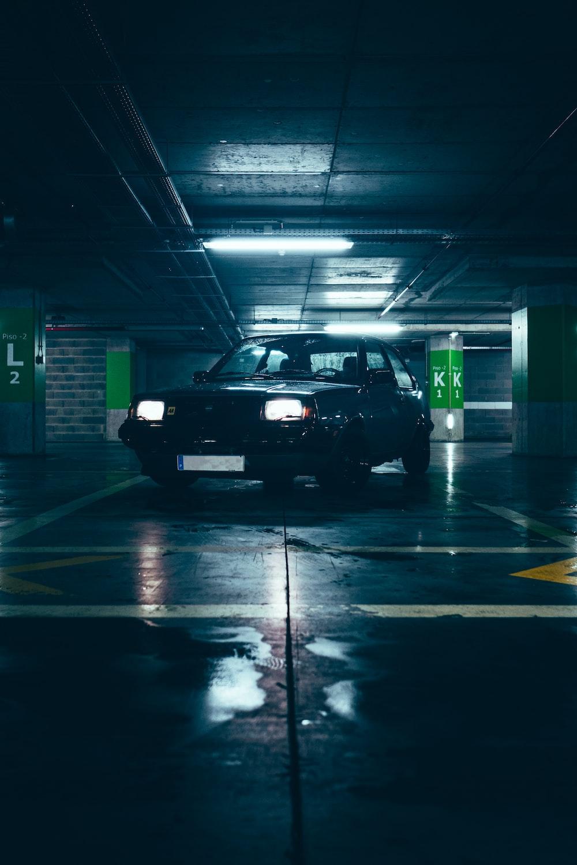 black car in a tunnel
