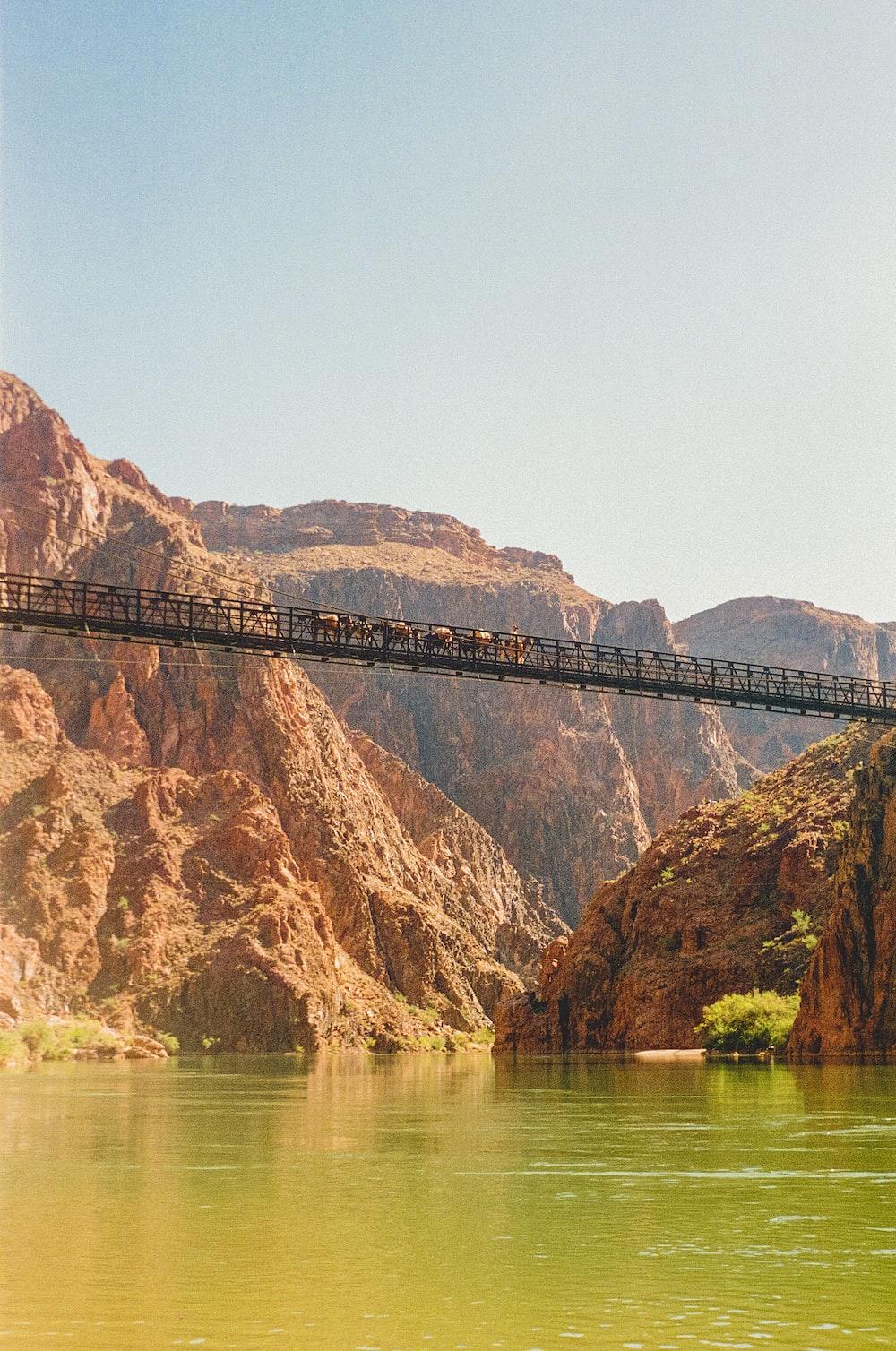 brown bridge over the river