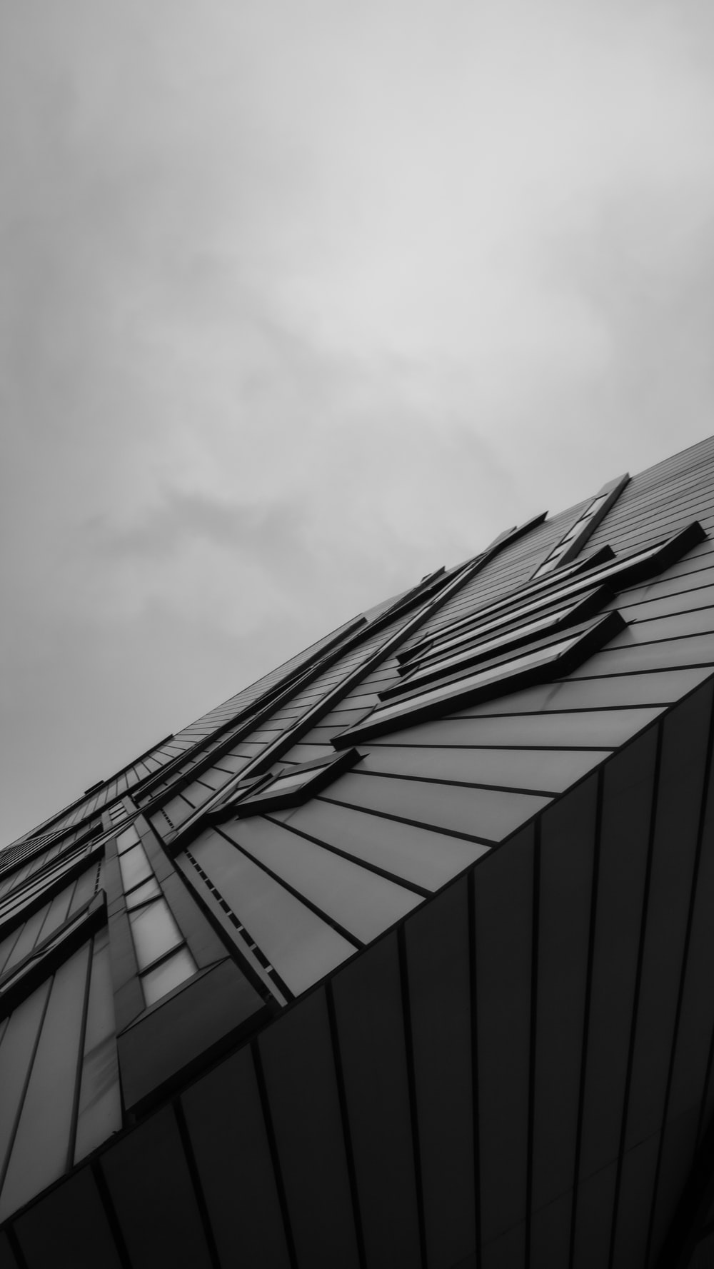 grayscale photo of a building