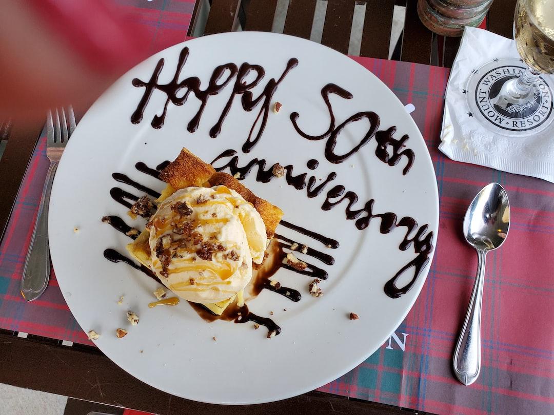 50th anniversary dessert.