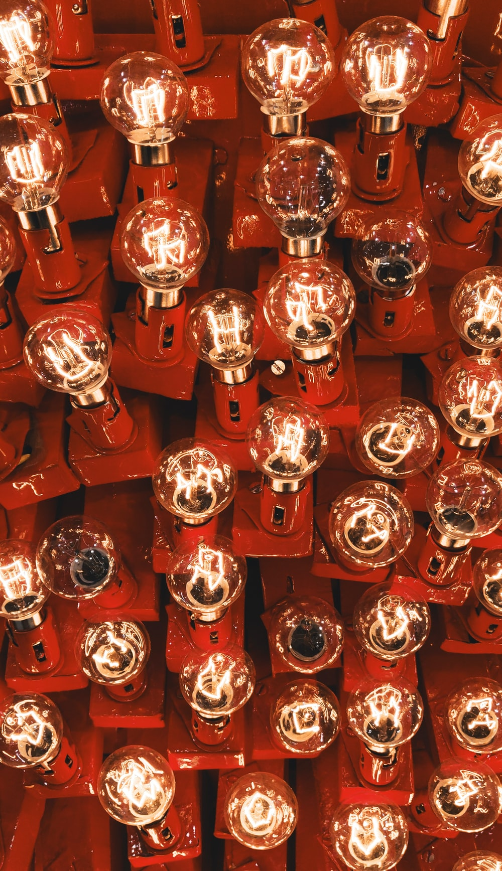 red and silver round decors