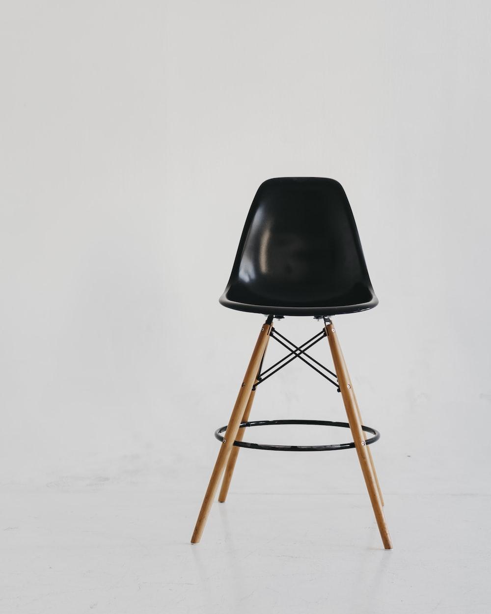 black chair on white snow