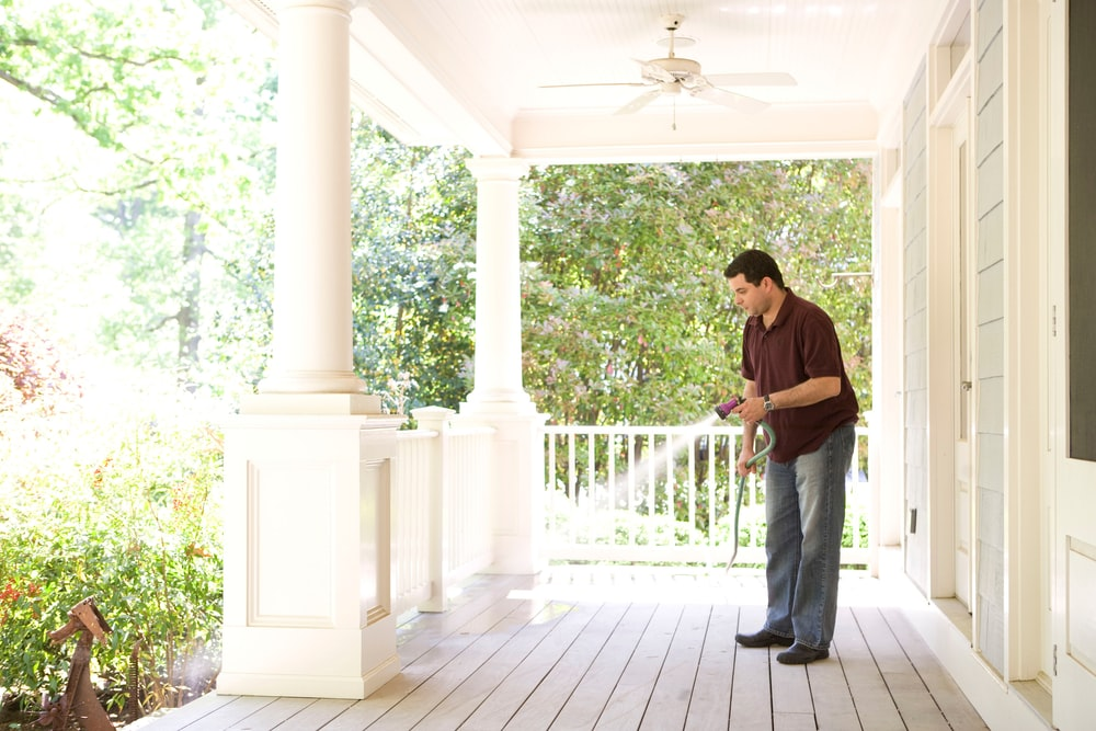 Cleaning your front porch and entrance provides an instant refresh.