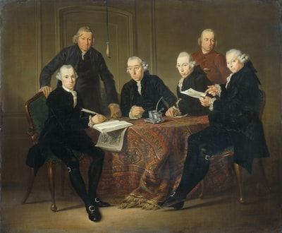 group of people sitting on brown wooden chair baroque teams background