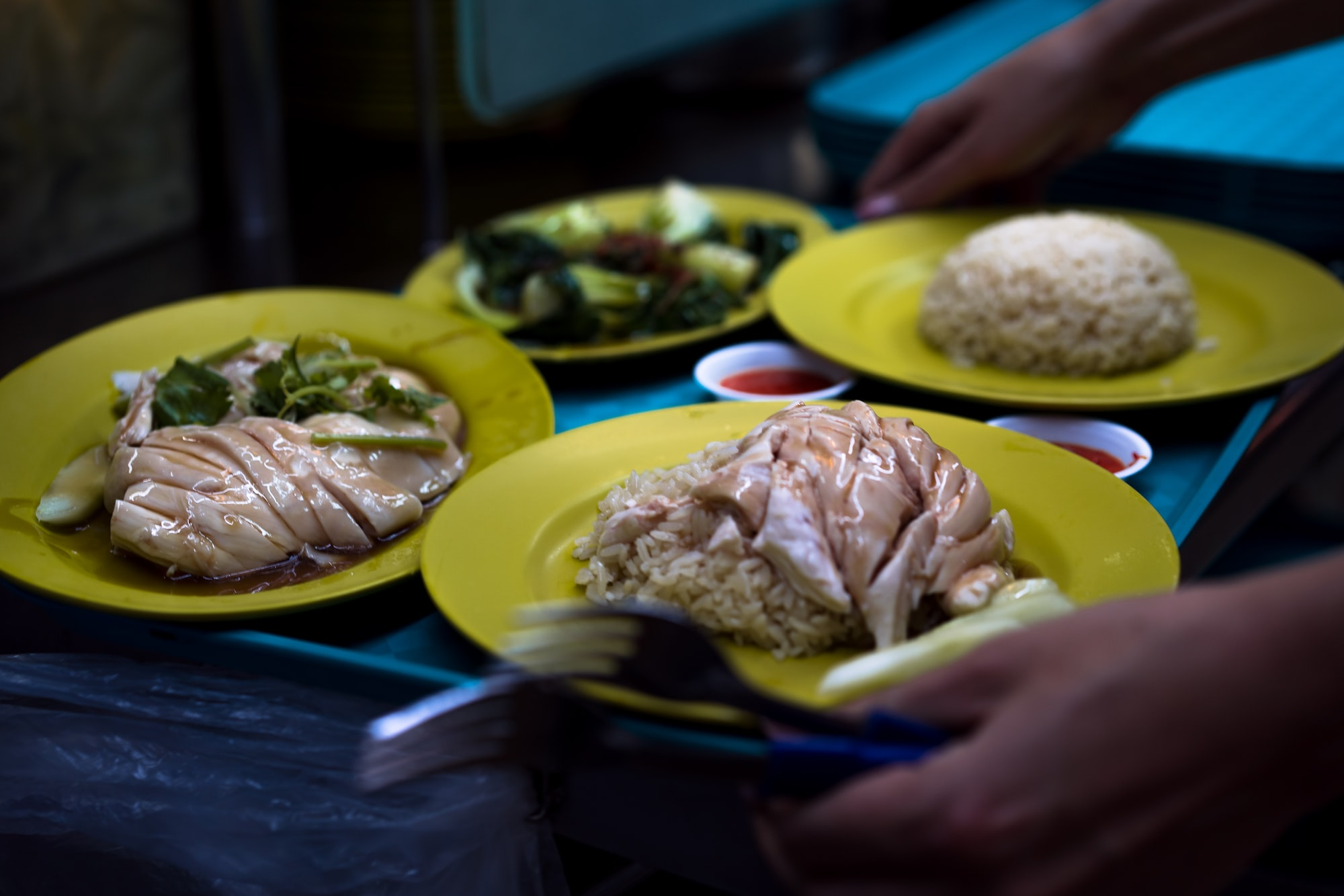 Chicken Rice from a Michelin star awarded food stall. Not the best chicken rice in the Singapore though :)