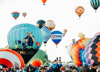hot air balloons on sky during daytime