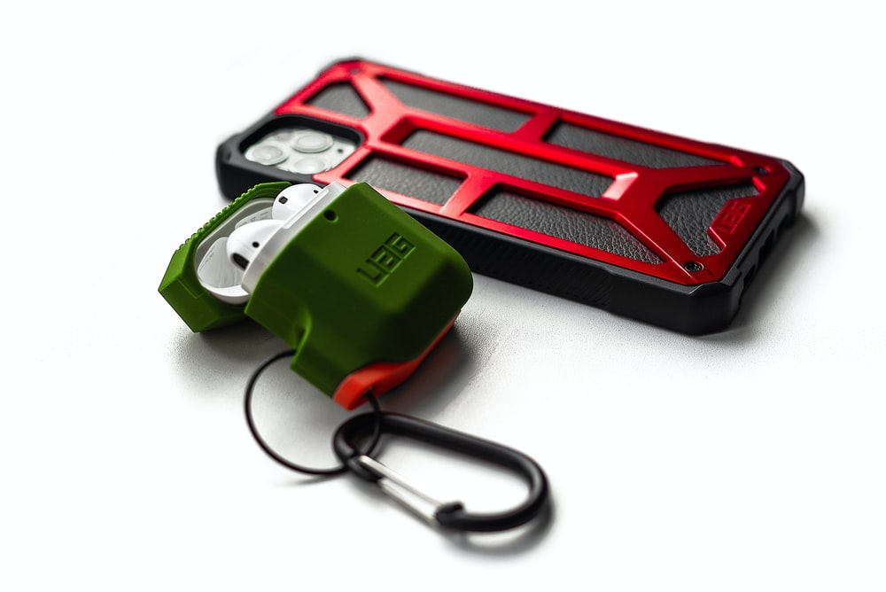 green and black corded device