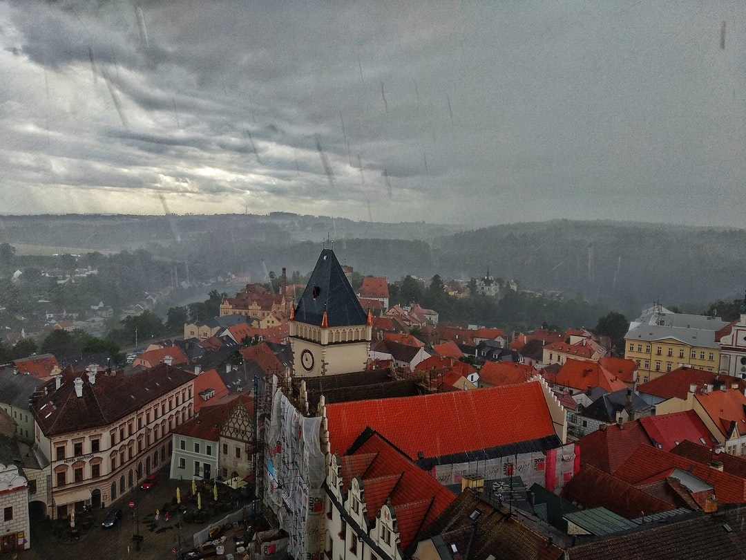 Breathtaking view of Tabor, from top of the church. What makes this photo special is breeze of Rain.