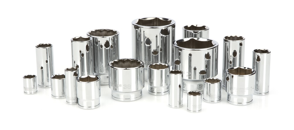 silver and gold steel containers