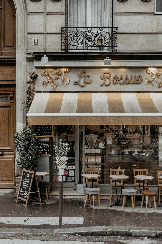 A Paris street – set design for Act II of La bohème