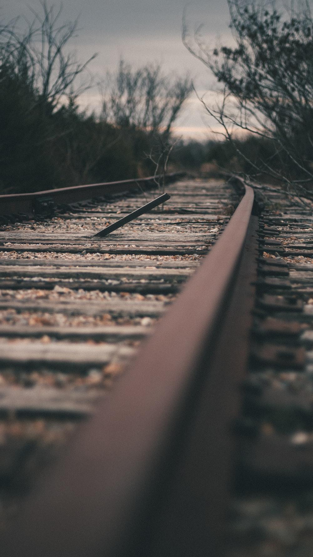 brown train rail during daytime