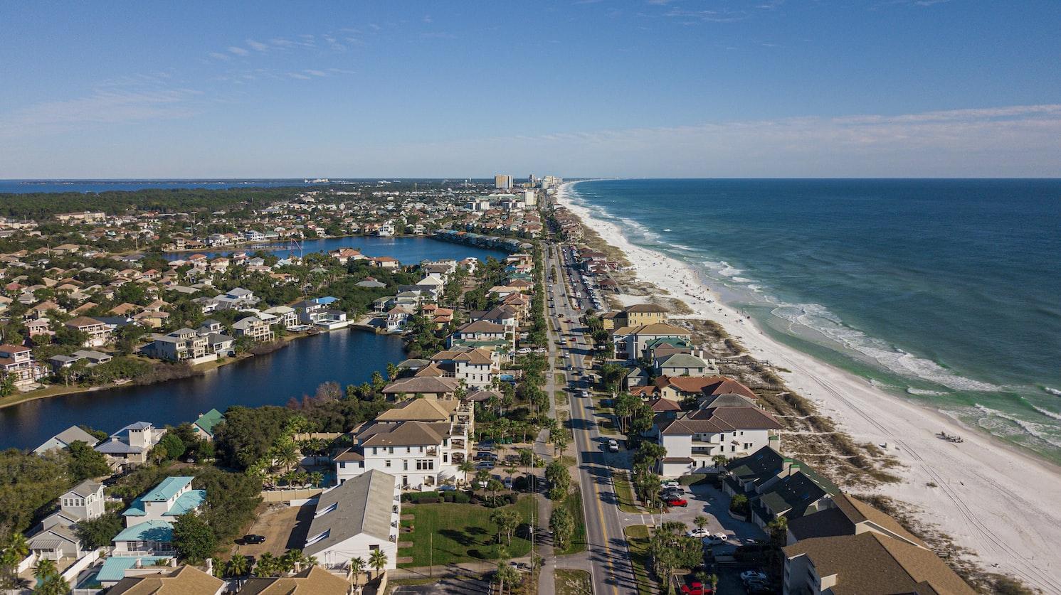 Destin Florida from a drone