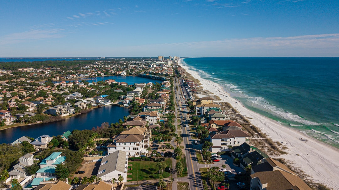 Destin, FL drone shot of beach. @zvessels55 @TopSphereMedia