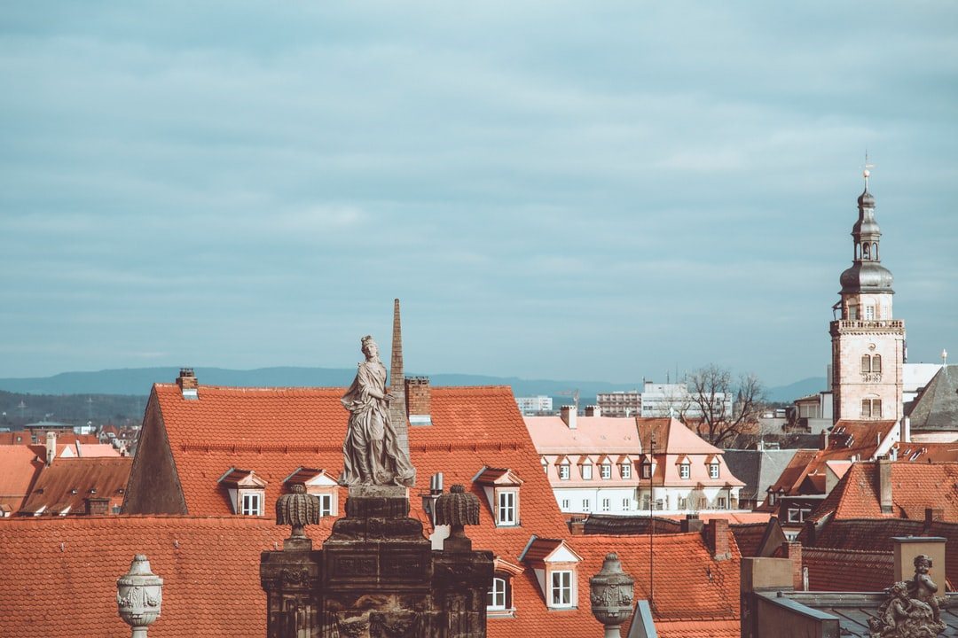 UNESCO world cultural heritage – old city historic district skyline. Made with Canon 5d Mark III and analog vintage lens, Leica Elmarit-R 2.8 135mm (Year: 1987)