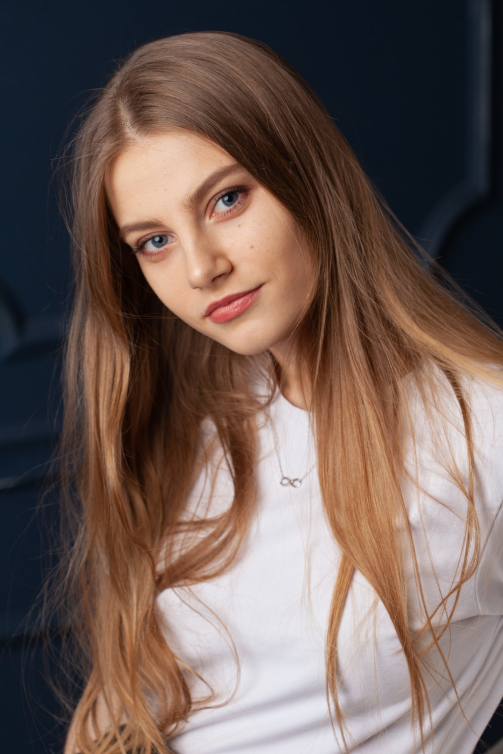 woman in white button up shirt