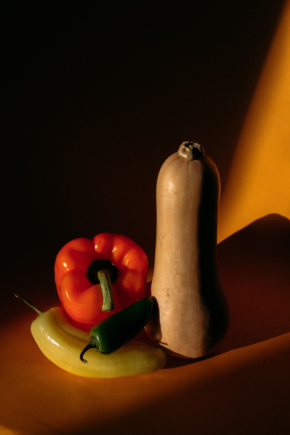 orange and red bell pepper